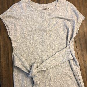 Athleta Studio Barre sweatshirt dress with tie